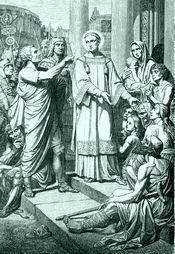 HISTOIRE ABRÉGÉE DE L'ÉGLISE - PAR M. LHOMOND – France - année 1818 (avec images et cartes) Saint_laurent