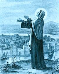 HISTOIRE ABRÉGÉE DE L'ÉGLISE - PAR M. LHOMOND – France - année 1818 (avec images et cartes) Sainte_genevieve